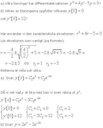lösa ekvationer med e
