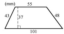 Exempel på areaberäkning av parallelltrapets 01