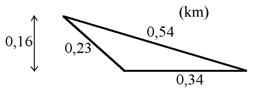Exempel på areaberäkning av triangel 01