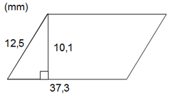 Exempel på areaberäkning parallellogram
