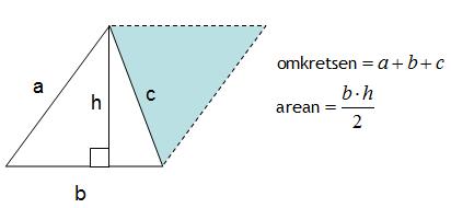 Omkrets och area för triangel
